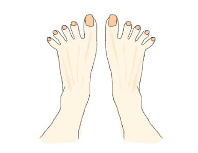 足の指を思いっきり開いている画像