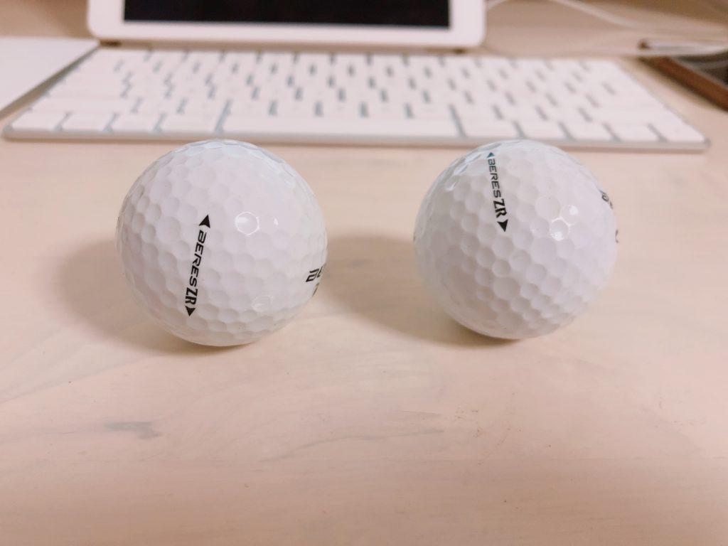 ゴルフボール2個の写真